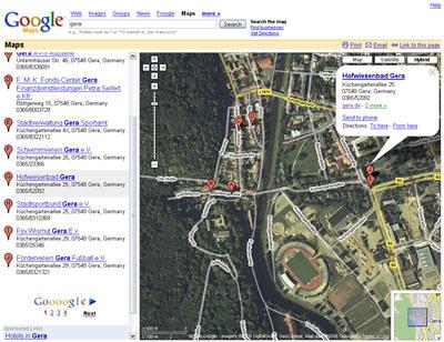 Google Maps jetzt auch mit Details in Deutschland