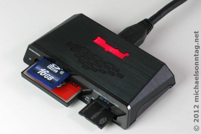 Kingston USB 3.0-Kartenleser voll bestückt