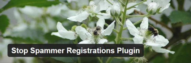 Wordpress Plugin - Stop Spammer Registrations Plugin