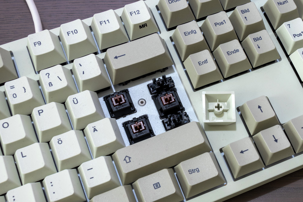 Cherry-MX-Brown-Switches der Durgod Taurus K310
